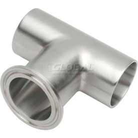 VNE E7WWC-6L1.0 3A Series 1 Tee, 304/T316L Stainless, Weld x Weld x Clamp