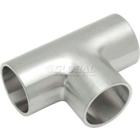 VNE E7WWW-6L8.0 3A Series 8 Tee, 304/T316L Stainless, Weld