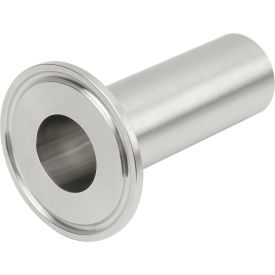 VNE EG14WSL-C6L6.0 3A Series 6 Spec Length Heavy Wall Tank Ferrule, 304/T316L Stainless, Clamp