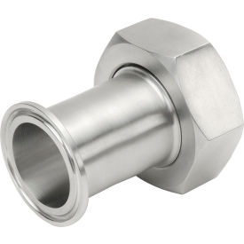 VNE EG17PR-6L1.5 3A Series 1-1/2 Adapter, 304/T316L Stainless, Clamp x Bevel Ferrule W/Nut