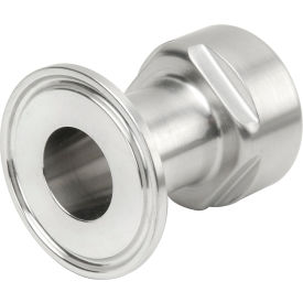 VNE EG22-6L1.0 x .75 3A Series 1 x 3/4 Reducing Adapter, 304/T316L Stainless, Clamp x FNPT