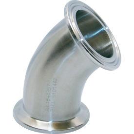 VNE EG2K1.0 3A Series 1 45 Degree Elbow, 304/T316L Stainless, Clamp