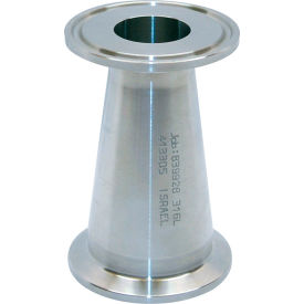 VNE EG31CC6L1.5 x 1.0 3A Series 1-1/2 x 1 Concentric Reducer, 304/T316L Stainless, Clamp