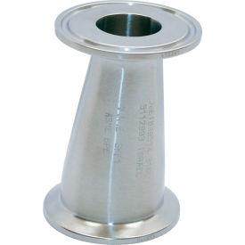 VNE EG32CC2.5 x 1.5 3A Series 2-1/2 x 1-1/2 Eccentric Reducer, 304/T316L Stainless, Clamp