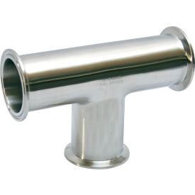 VNE EG7-6L2.5 3A Series 2-1/2 Tee, 304/T316L Stainless, Clamp