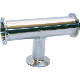 VNE EG7R-6L4.0 x 2.0 3A Series 4 x 2 Reducing Tee, 304/T316L Stainless, Clamp