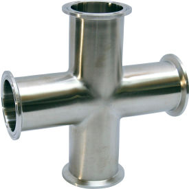 VNE EG9-6L6.0 3A Series 6 Cross, 304/T316L Stainless, Clamp