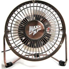 """MaxxAir™ 4"""" High Velocity Desk Fan, 1-Speed, 5V DC, Bronze, HVDF4"""