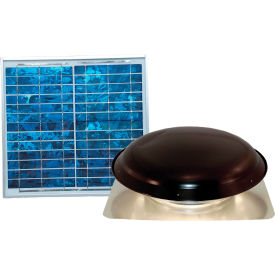 Ventamatic® VX1000SOLBLKUPS Solar Power Attic Ventilator, Black