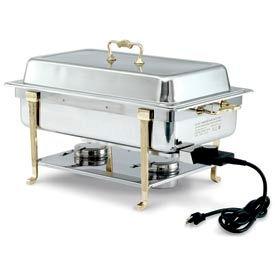 Brass Trim Electric Chafer - Short Side