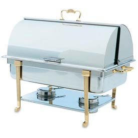 Classic Brass Roll Top Chafer