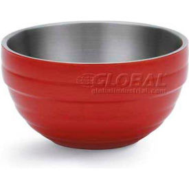 Vollrath, Double-Wall Insulated Serving Bowl, 4656955, 10.1 Quart, Fire Engine Red - Pkg Qty 2