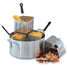 Pasta and Vegetable Cooker Perforated Stainless Wedge - Inset Only