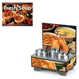 Vollrath® Cayenne® 720201103, 4 Qt. Full Size Merchandisers w/Menu Board Country Kitchen