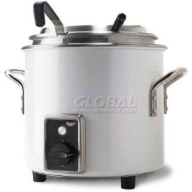 Vollrath, Retro Stock Pot Kettle Rethermalizer, 7217750, 7 Quart, Pearl White Finish