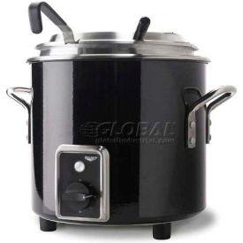 Vollrath, Retro Stock Pot Kettle Rethermalizer, 7217760, 7 Quart, Black Black Finish