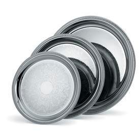 "Vollrath® Silverplate Elegant Reflections™. Round Tray - 15-1/4"""