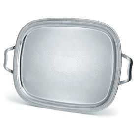 Vollrath® Silverplate Elegant Reflections™ Oblong Tray with Handles