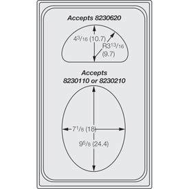 Miramar™ Plain SS Single Template - Oval and 1/2 Oval