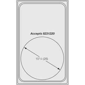 Miramar™ Satin SS Single Template - One Large Round