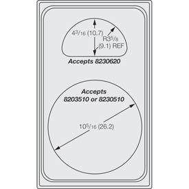 Miramar™ Plain SS Single Template - One Casserole and One Half Oval