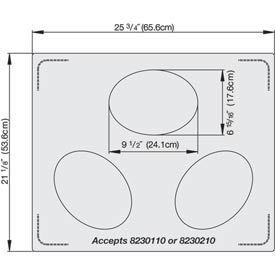 Miramar™ Plain SS Double Well Template - 3 Small Ovals