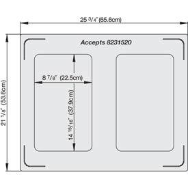 Miramar™ Plain SS Double Well Template- 2 Rectangles