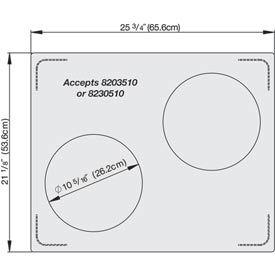 Miramar™ Plain SS Double Well Template- 2 Casserole
