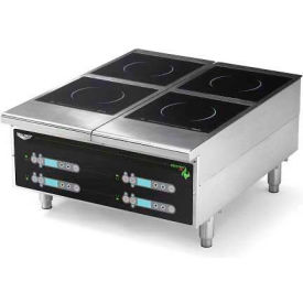 "Vollrath, Cayenne Heavy-Duty Induction Hot Plate, 924HIDC, Four-Hob Digital, 24"" X 13-5/8"" X... by"