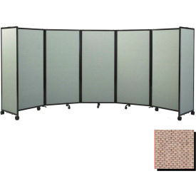 Portable Mobile Room Divider, 6'x25' Fabric, Rye
