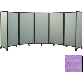 "Portable Mobile Room Divider, 7'6""x8'6"" Fabric, Purple"