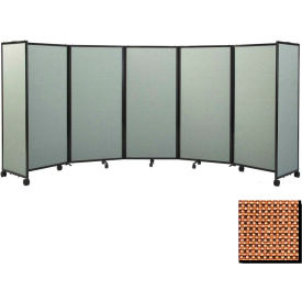"""Portable Mobile Room Divider, 7'6""""x14' Fabric, Latte"""