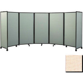 """Portable Mobile Room Divider, 7'6""""x14' Fabric, Sand"""