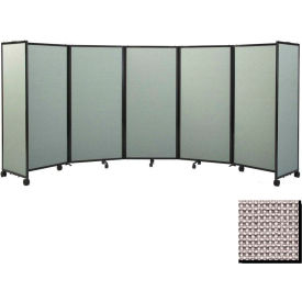 "Portable Mobile Room Divider, 7'6""x14' Fabric, Slate"