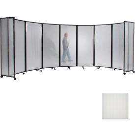 "Portable Mobile Room Divider, 6'x19'6"" Polycarbonate, Opal"