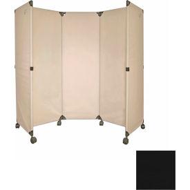 Portable Mobile Room Divider, 6' Black