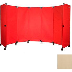 Portable Mobile Room Divider Mp10s 4 Beige