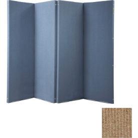 "VersiFold Portable Acoustical Partition, 8' x 6'6"", Beige"