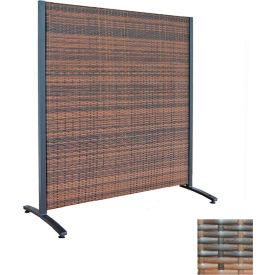 Wicker Partition Indoor/Outdoor 4' Brown