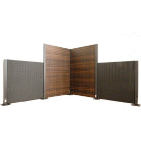 Wicker Modular Partition Panel Black 4'