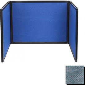 Tabletop Display Partition 24x78 Fabric, Powder Blue