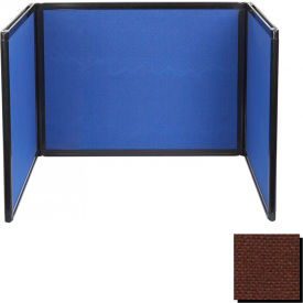 Tabletop Display Partition 24x78 Fabric, Chocolate Brown
