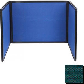 Tabletop Display Partition 24x99 Fabric, Forest Green