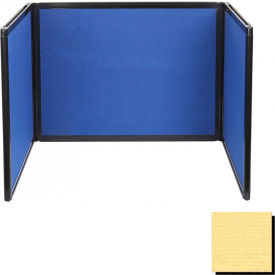 Tabletop Display Partition 36x78 Fabric, Yellow