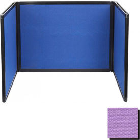 Tabletop Display Partition 36x78 Fabric, Purple