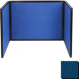 Tabletop Display Partition 36x99 Fabric, Navy Blue