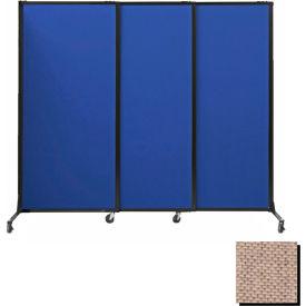 "Portable Acoustical Partition Panels, Sliding Panels, 88""x7' Fabric, Rye"