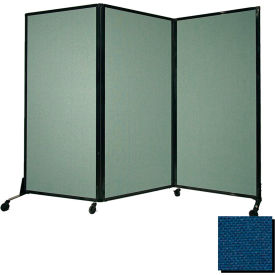 "Portable Acoustical Partition Panel, AWRD  70""x8'4"" Fabric, Navy Blue"