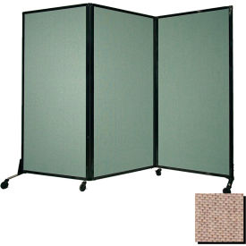 "Portable Acoustical Partition Panel, AWRD  70""x8'4"" Fabric, Rye"