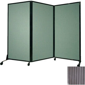"Portable Acoustical Partition Panel, AWRD  70""x8'4"" Gray"